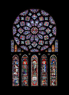 North Rose Window, The Glorification of the Virgin, Chartres Cathedral
