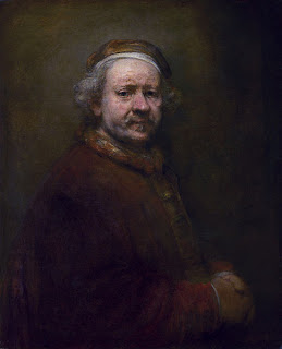 Self-Portrait,  1669.  Rembrandt van Rijn's last self-portrait (Image courtesy of the National Gallery, London)