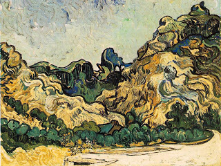 Mountains at Saint-Rémy,  oil on canvas, Van Gogh, 1889, (Image courtesy of Solomon R. Guggenheim Museum, NY)