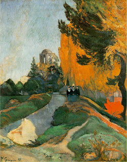 Alyschamps,Arles,  Paul Gauguin ,  1888, oil on canvas, (Image courtesy of Musée d'Orsay)
