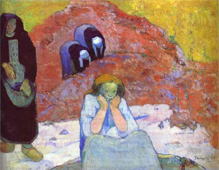 Grape Harvest at Arles , Paul Gauguin, 1888, oil on canvas, (image courtesy of the Ordrupgaard Collection, Copenhagen)