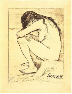 Sorrow , April 1882, chalk on paper