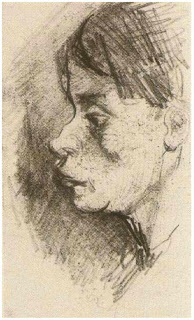 Head of a Peasant Woman Bareheaded, Nuenen , Dec-Jan 1884-85 (Image courtesy of the Van Gogh Museum, The Netherlands)
