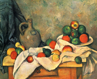 Curtain, Jug and Fruit,  oil on canvas ,  Paul Cezanne, 1894, Private collection