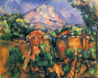 Mont Sainte-Victoire , oil on canvas ,  Paul Cezanne, 1897. Image courtesy of  Baltimore Museum of Art, Baltimore