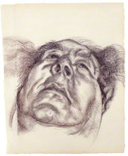 Arnold Abraham Goodman, Baron Goodman by Lucian Freud, charcoal, 1985, 13 in. x 10 1/2 in. (330 mm x 267 mm), Given by Connectus Komonia Trust, 1986, Image courtesy of the National Portrait Gallery