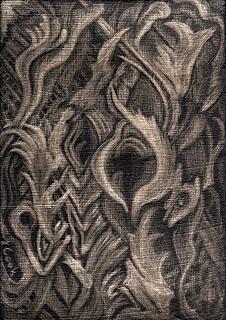 Eucalyptus bark - silverpoint, Jeannine Cook artist