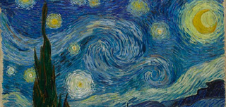 Detail of Vincent Van Gogh's  Starry Night , 1889, Image courtesy of The Museum of Modern Art, New York