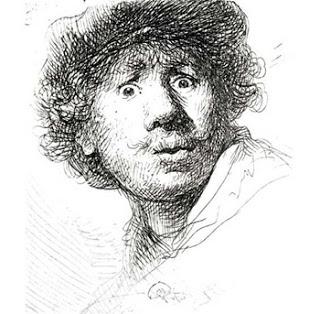 Self Portrait with a Cap, open-mouthed. 1630. Rembrandt Harmensz. van Rijn. Image courtesy of the Rijksmuseum
