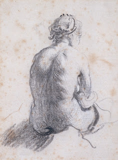 Rembrandt,  Study of Female Nude seen from the Back,  1630-34, Image courtesy of the Courtauld Institute, London