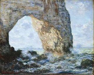 The Manneporte (Etretat),    Claude Monet,   oil on canvas, image courtesy of   The Metropolitan Museum of Art, New York