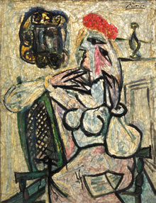 Picasso, Seated Woman with a Red Hat, gemmaux