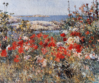 Celia Thaxter's Garden, Childe Hassam, 1890, oil on canvas, (Image courtesy of the Metropolitan Museum, New York)
