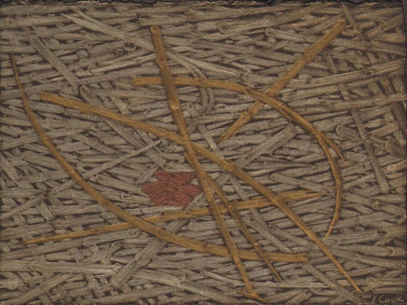 Marsh Wrack, metalpoint, JeannineCook artist