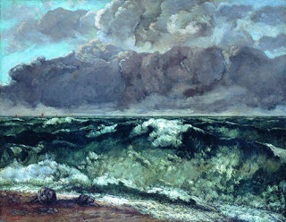 The Wave,  1870, Gustave Courbet, (Image courtesy of Staatliche Museen zu Berlin, Nationalgalerie)