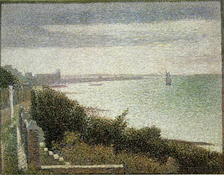 E nglish Channel at Grandcamp,  Georges Seurat, (Image courtesy of Museum of Modern Art, New York)