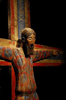 This wonderful polychrome crucifix is the Batllo mid-12th century Crucifix.