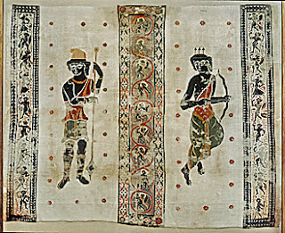 A 4th century Coptic wall hanging depicting Artemis and Aktaion, in the British Museum (image courtesy of the Lessing Photo Archive)