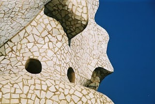 Part of entrance to Parc Guell, Barcelona