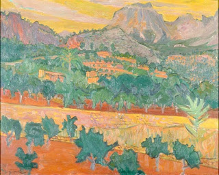 Puig Mayor from Fornalutx, near Soller,  1958, Frdereick Gore, (image courtesy of the British Government Art Collection)