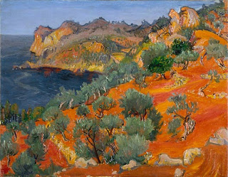 Landscape near Deya  1958, Frederick Gore,(image courtesy of the British Government Art Collection)