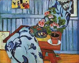 Still Life with Geraniums , Matisse, 1910 (image courtesy of the Pinakothek der Moderne, Munich)