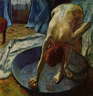 Woman Bathing , 1886 pastel, E. Degas (image courtesy of the Hill-Stead Museum, Farmington, CT).