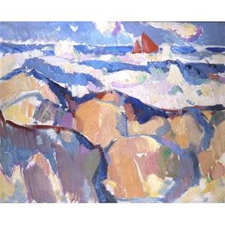 The Red Sail,  oil on canvas, John Duncan Fergusson