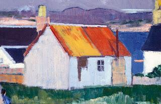 """Iona , oil on canvas, Frank """"Bunty"""" Cadell"""