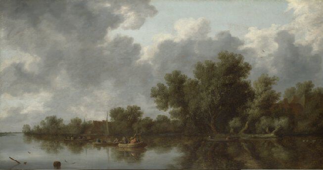 The River Scene,   Salomon van Ruysdael, 1632(image is courtesy of the National Gallery.)