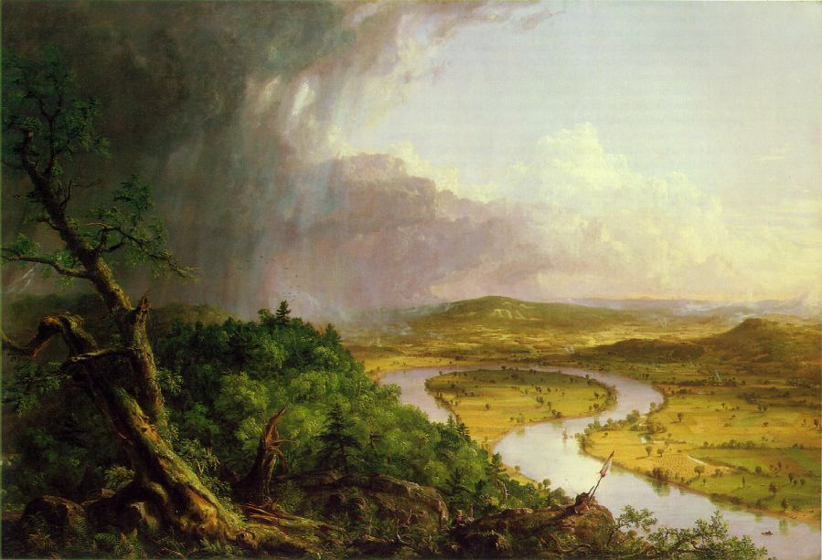 "The Oxbow. View from Mount Holyoke, Northampton, Mass. after a Thunderstorm "", 1836, Thomas Cole , (Image courtesy of the Metropolitan Museum of Art.)"