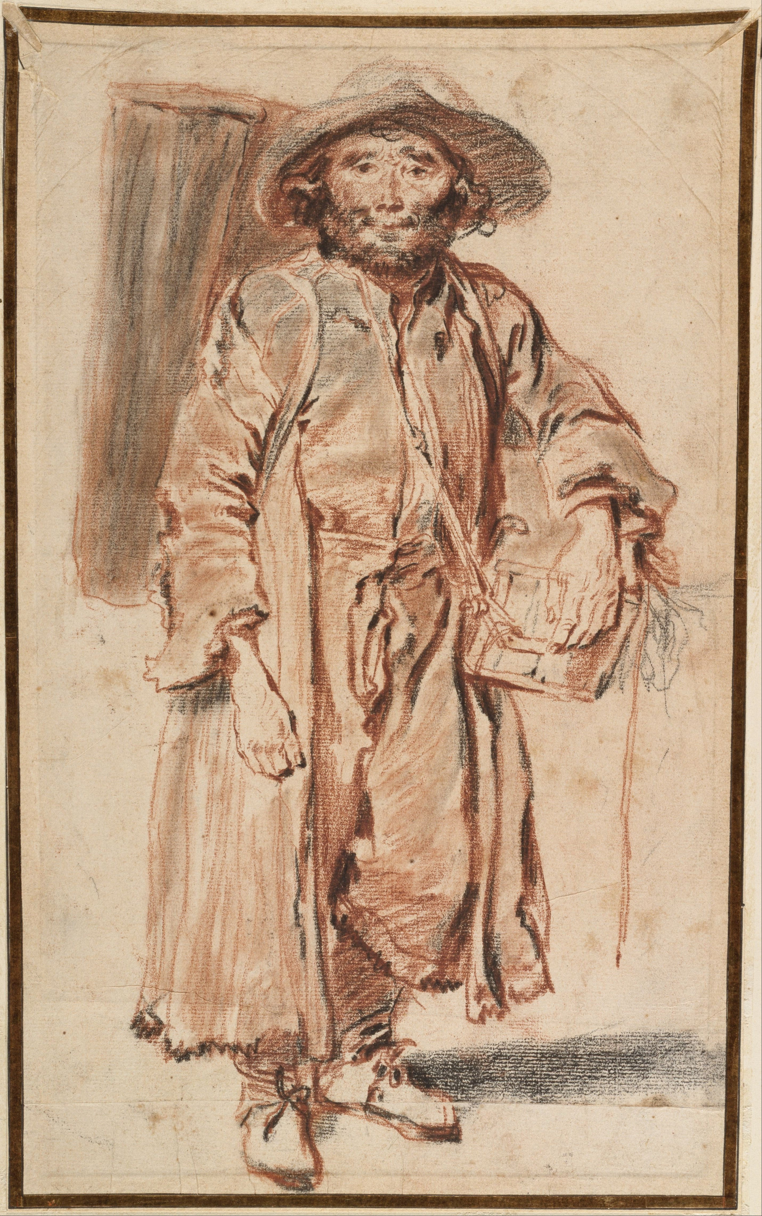 The Old Savoyard, red and black chalk with stumping, 1715, Antoine Watteau, (image courtesy of the Art Institute of Chicago)