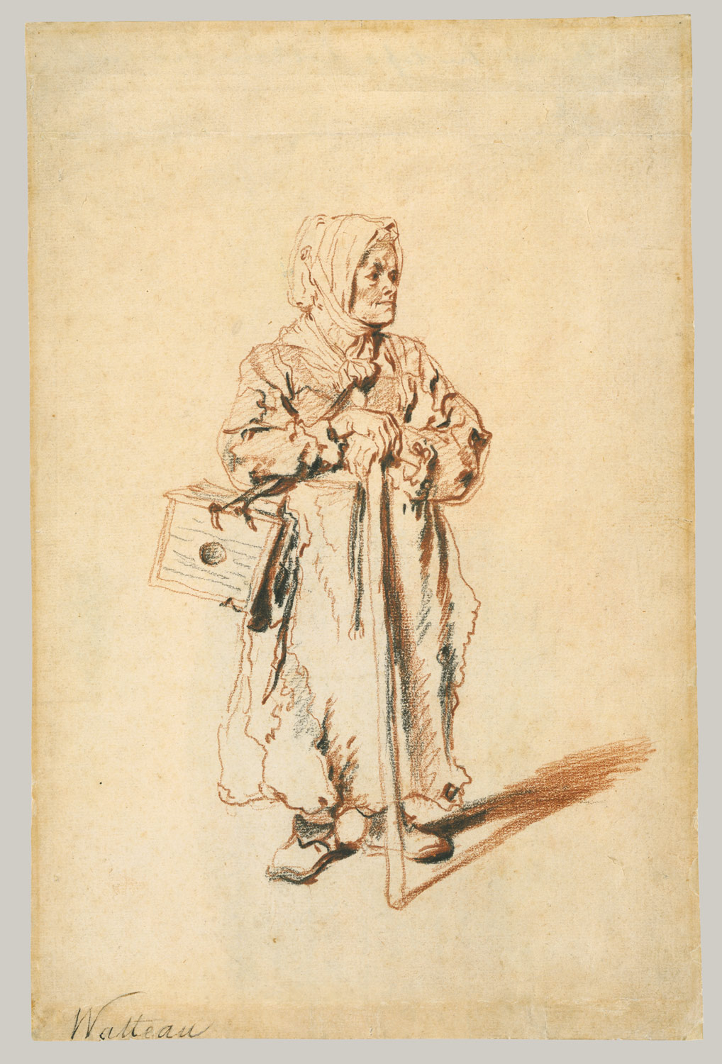 The Old Savoyarde,, 1715, Antoine Watteau, red and black chalk (image courtesy of The Metropolitan Museum).