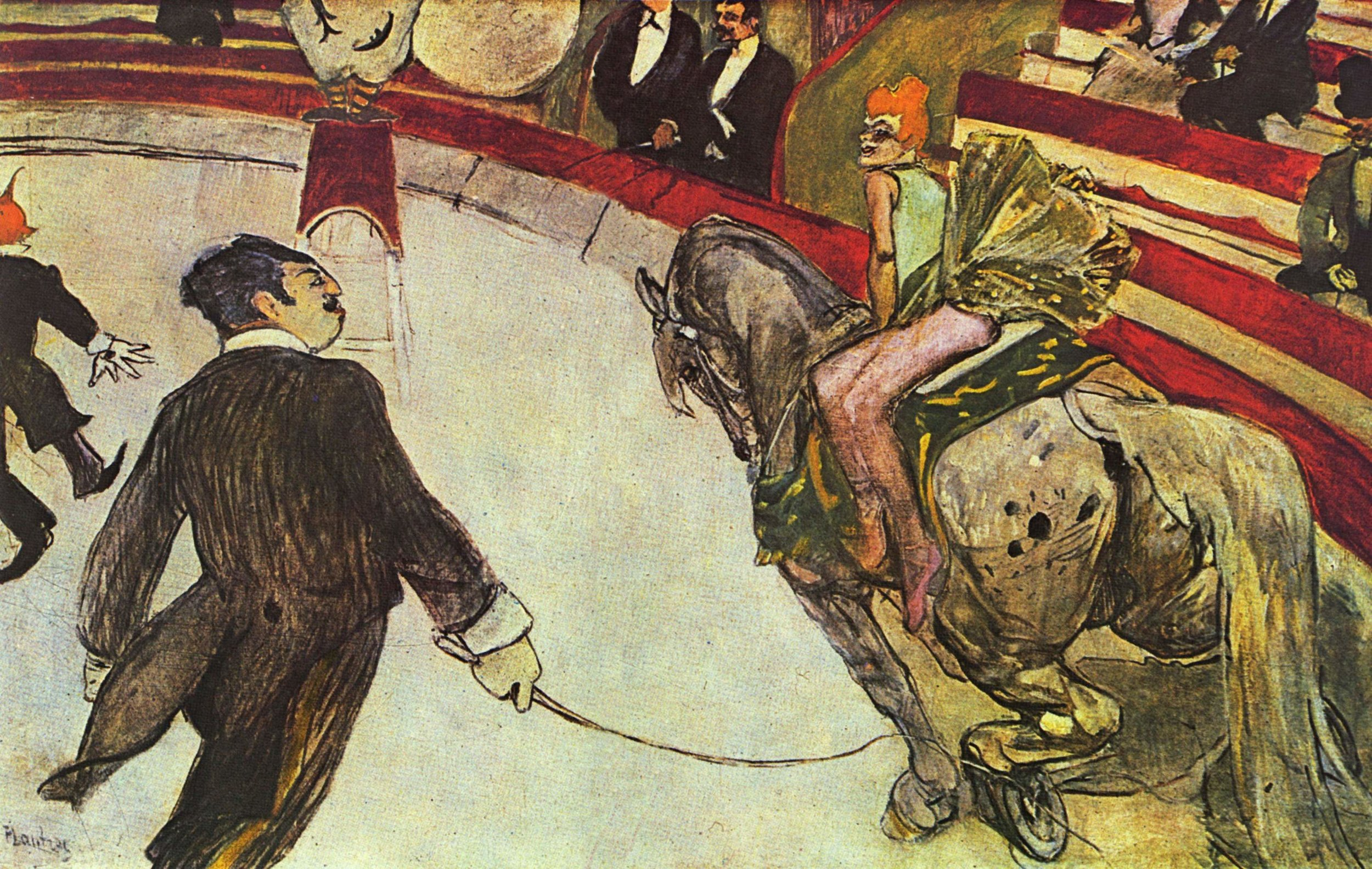 Au cirque Fernando, l'écuyère, 1888,  Henri de Toulouse-Lautrec, (Image courtesy of the Art Institute of Chicago)