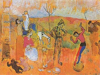 Circus Family, the Tumblers, 1905, oil, Pablo Picasso