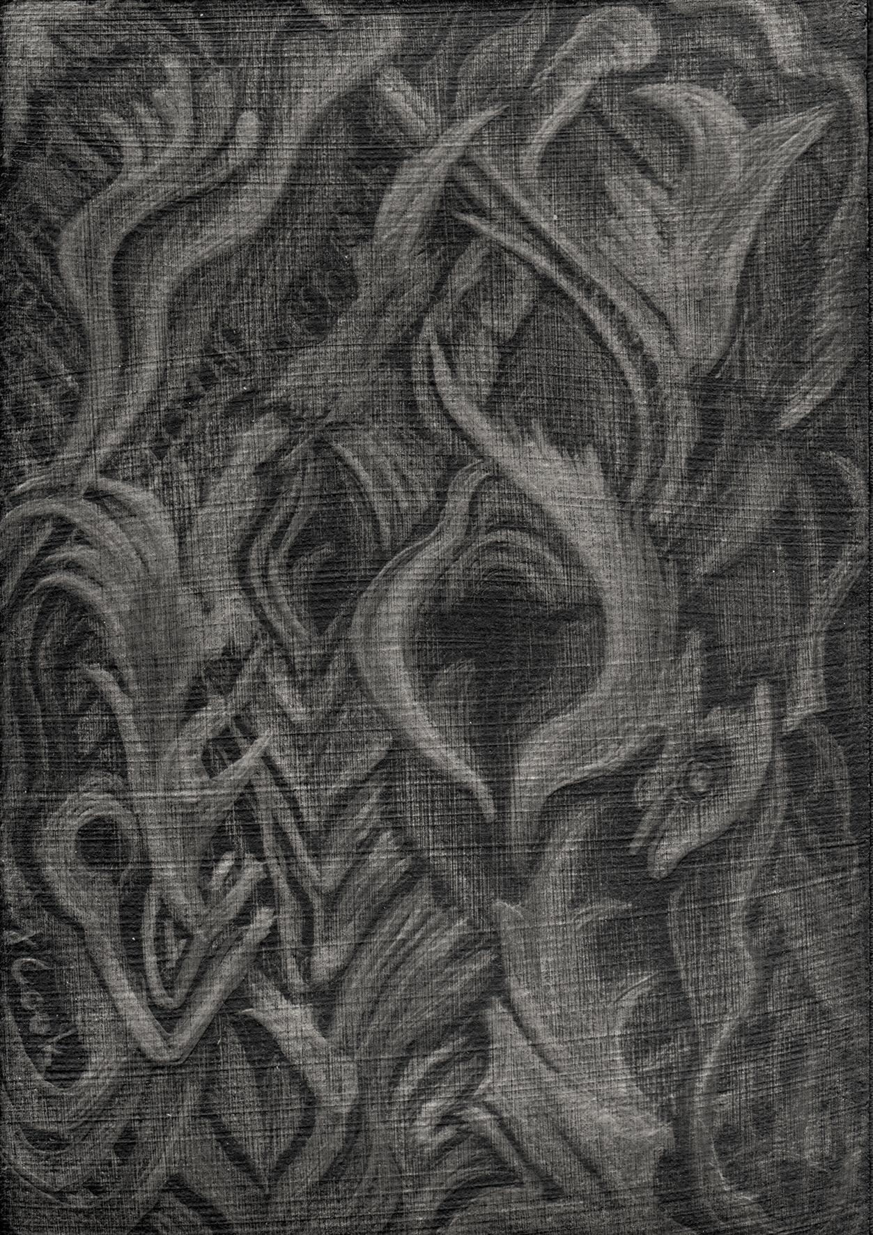 Apoyos II - Eucalyptus tree bark - silverpoint, Jeannine Cook artist