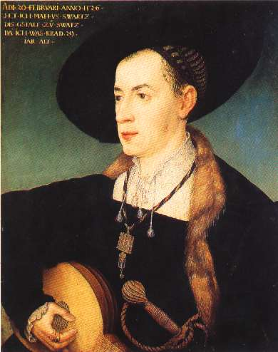 Portrait of Matthäus Schwarz by  Hans Maler zu Schwaz , 1526,  Musée du Louvre