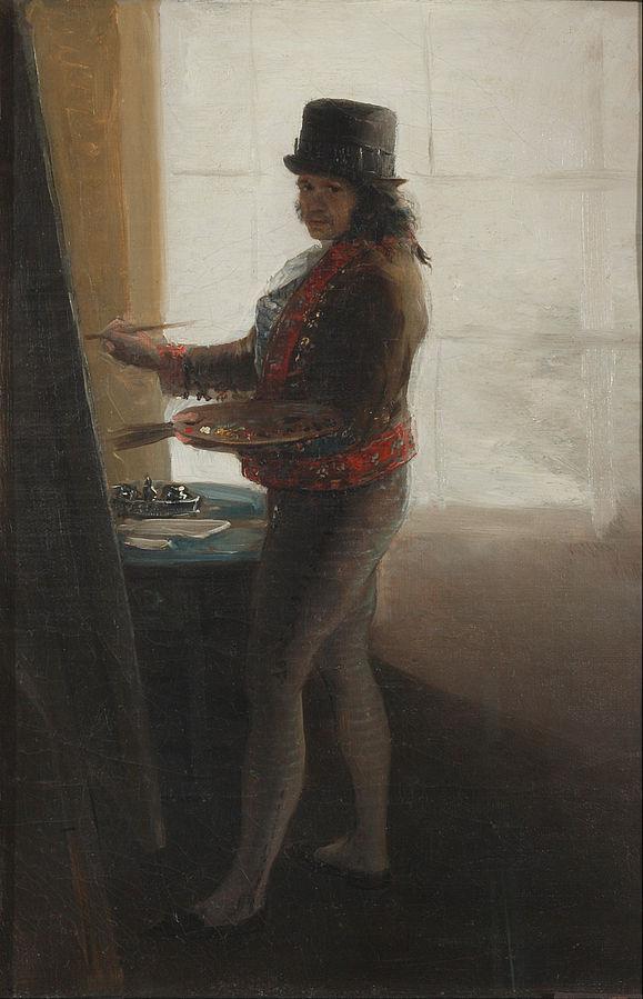 Autorretrato ante el caballete, 1790-95, Francisco Goya, (Image courtesy of the Real Academia de Bellas Artes de San Fernando, Madrid)