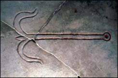Anchor, Catacomb of Priscilla, Rome