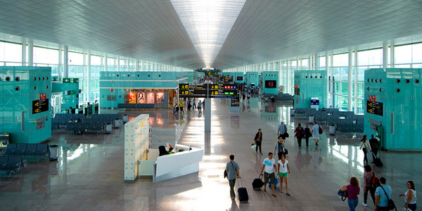 Inside Barcelona airport