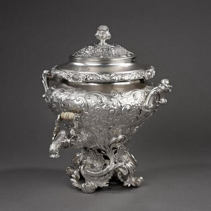 A George IV silver Tea Urn , 1823 , United Kingdom