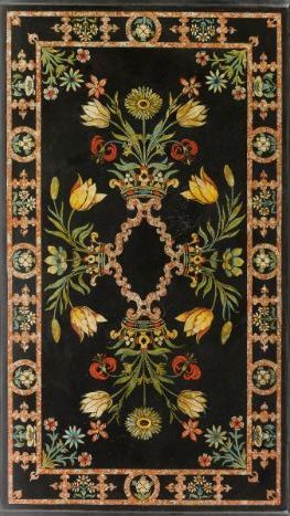 An Italian scagliola table top, Florentine, second half 17th century.