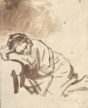 Saskia Sleeping, Rembrandt