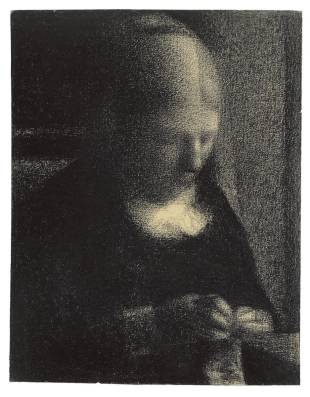 Embroidery, George Seurat, charcoal