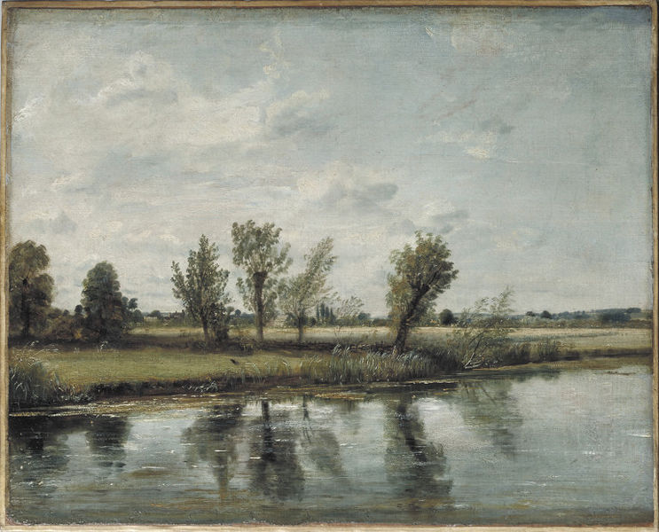 Water-meadows near Salisbury, Oil painting, 1820 or 1829 (Image courtesy of the V & A Museum, London)