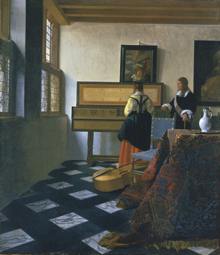 A Lady at the Virginal with a Gentleman,   1762, Johannes Vermeer,  (Image courtesy of the Royal Collection in 1762