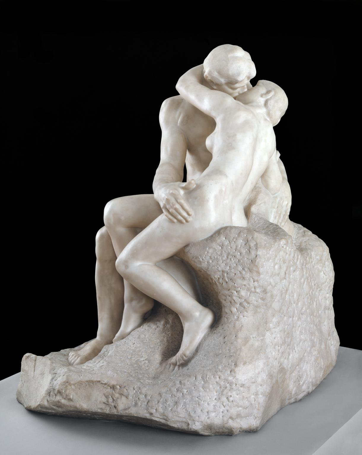 The Kiss, 1901-04, Auguste Rodin, Pentelican marble, (Image courtesy of the Tate)