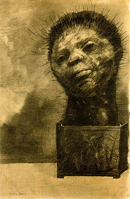 The Cactus Man 1881, Odilon Redon, Charcoal on paper (Image courtesy of  Museum of Modern Art, New York )