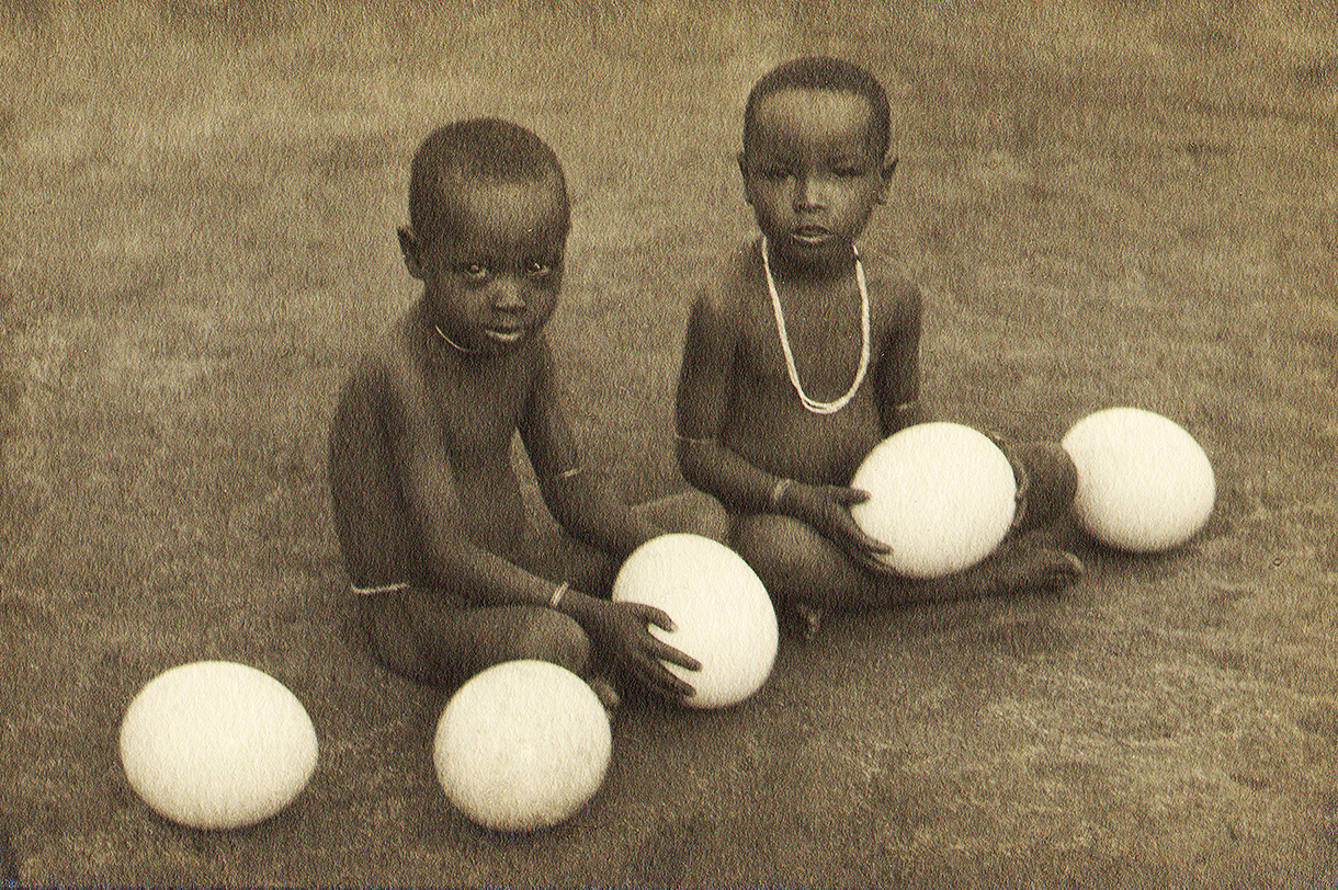 Children in central Tanganyika, 1929-30, sepia print, Frank Anderson photographer (copyright Jeannine Cook)