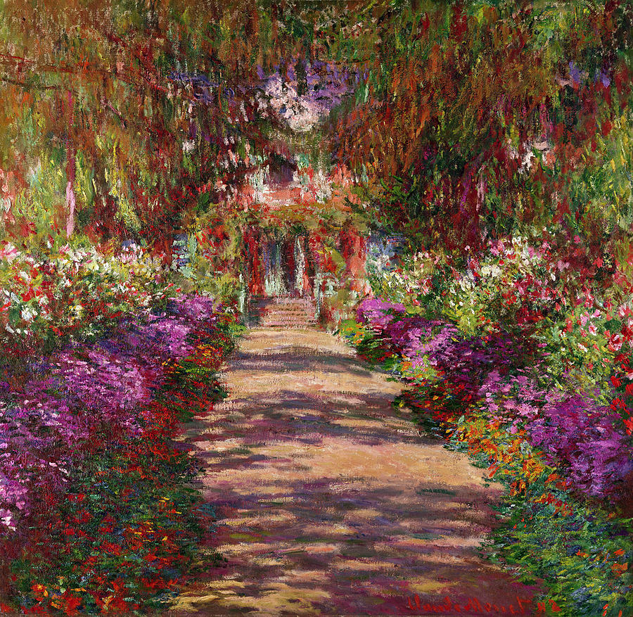 The Garden in Flower, Giverny,  1900, oil on canvas, Claude Monet